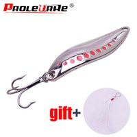 Wholesale leech lures resale online - Metal VIB g g g Zinc Alloy Leech fidget Spinners Spoon lure Angling Hard Baits Night Fishing Tackle Feather hook Lures