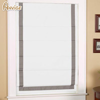 sombras romanas al por mayor-Las cortinas de ventana modernas de la moda modificaron cortinas romanas con las persianas romanas de la banda para la sala de estar