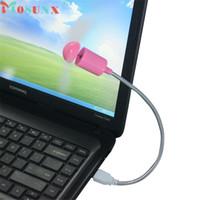 mini laptop laptop rosa venda por atacado-Mosunx NOVO Mecall Rosa USB Flexível Mini Ventilador De Refrigeração Cooler Para Laptop Desktop PC Computador atacado Oct20