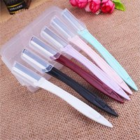 Wholesale eyebrow trimmer blade for sale - Group buy Simple Eyebrow Lip Razor Trimmer Blade Shaver Knife Hair Remover Facial Makeup Tool New