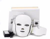 ipl führte lichter großhandel-Heiße neue Produkt IPL Lichttherapie Hautverjüngung führte Halsmaske mit 7 Farben für den Heimgebrauch versandkostenfrei