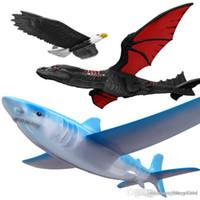 drachenfliegen spielzeug groihandel-Handstart Werfen Segelflugzeug Flugzeuge Inertial Foam Segelflugzeug Shark Eagle Fly Dragon Modell Outdoor Sports Fliegen Spielzeug Für Kinder Geschenk
