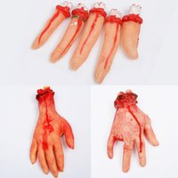 ingrosso puntelli a mano-3 stili Halloween Horror prop Bloody Hand Haunted House Forniture per feste Spaventoso mano finta Finger decorazioni di halloween DHL UJY445