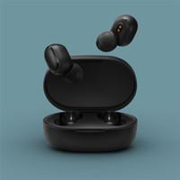 bluetooth xiaomi al por mayor-Xiaomi original redmi AirDots TWS Bluetooth para auriculares estéreo de auriculares inalámbricos Bluetooth 5.0 Auricular de control táctil Mic Auriculares