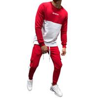 Wholesale autumn sport track suit resale online - Mens Autumn Winter Thicken Sweatshirt Top Pants Sets Sports Suit Tracksuit tracksuit men track suit men sets