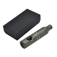 vape en forme de tuyau achat en gros de-Date Matel Vape Pipe Fumer 110mm Pipes Avec Bol En Verre Intégré Gun Black Haute Qualité Livraison Gratuite