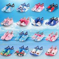 spor ayakkabıları kumaş toptan satış-37 Renk Çocuklar Su Ayakkabı Su Sporları Dalış Çorap Çocuklar Anti Patinaj ayakkabı Nefes Kumaş Çabuk Kuruyan Yüzme Sörf Islak Elbise Ayakkabı M333