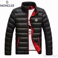 homens ultraleves parkas venda por atacado-2019 jaqueta branca para baixo dos homens jaqueta de inverno ultraleve para baixo jaqueta casuais outerwear neve quente gola de pele marca casaco parkas