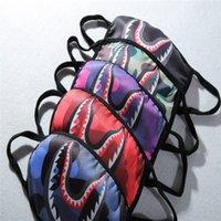máscara de boca vermelha venda por atacado-Unisex banho macaco máscara de rosto máscara de rosto preto máscara de rosto camo máscara de ciclismo roxo vermelho azul tubarão máscaras assustadoras B61901