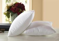 canapé bricolage achat en gros de-45 * 45 cm DIY oreiller insère Blanc Polyester Oreiller Décoratif Carré Insert Forme Coussin Stuff Canapé Oreiller Inserts A02