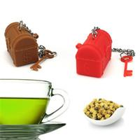 infusor de té de navidad al por mayor-Treasure Box Teas Maker Gel de sílice Infusor de Navidad Pequeño regalo Hogar Vida Suministros Juguete Mini almacenamiento 6 9flC1
