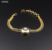 hombres de oro platino brazalete al por mayor-Diseñador de joyas para hombre pulseras Acero titanio no sensibilizado brazalete de moda para mujer pulsera accesorios