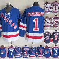 james rápidos venda por atacado-Nova Iorque Rangers Jerseys 2 Brian Leetch 4 Ron Greschner 7 Haste Gilbert 1 Eddie Giacomin 3 James Patrick Hóquei Jerseys Transporte Rápido