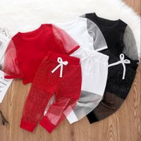 Wholesale kids clothings for sale - Group buy Kids Clothes Baby Mesh Clothing Sets Girls Gauze Patchwork Top Shorts Suits Summer Stage Costume Party Clothings Pants Clothing Set CYP652