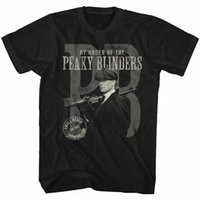 Wholesale stamps for sale - Group buy Peaky Blinders Stamped Black Adult T Shirt