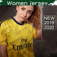 camisas amarelas para mulheres venda por atacado-Mulheres Gunners ARS Away Yellow Soccer Jersey 2019/20 Womens Highbury Futebol Camisa 2020 Artilheiro Futebol Uniforme de Vendas