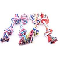 perro nudo nuevo al por mayor-New Fashion Dog Chew juguetes para mascotas Artículos para mascotas perro de perrito del algodón Chew Toy nudo durable cuerda trenzada Funny Bone 17CM Herramienta
