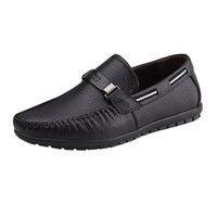 bequeme slip-arbeit schuhe großhandel-SAGACE Herren Schuhe Business Leder Bequeme Herren Einzelschuhe Schuhe Chaussures Flats Slip On Work Boat Jly17