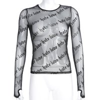 Wholesale sun protection women s clothing online - Fashion Womens Designer T Shirt High Quality Women Openwork Long Sleeve Casual Women Sexy Sun Protection Clothing