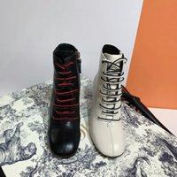 sapatas do salto alto do laço da marinha venda por atacado-2020 mulheres Tamanho 35-42 de moda de luxo designer botas de salto alto botas marinha bottoms sapatos de inverno de couro