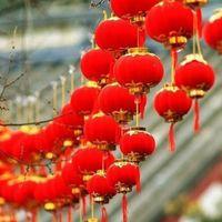 маленький пластиковый китайский оптовых-30 шт./лот небольшой флокирование Красный фонари свадьба декор подарок DIY Craft симпатичные китайский пластиковые фонари #L45 D19010902
