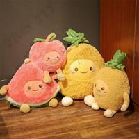 Wholesale cherry pillows for sale - Group buy Creative cute pillow cartoon fruit watermelon cherry pineapple pillow plush toy plush decorations children doll ornaments