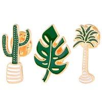 ingrosso spilla nuova lega-Il Collare ago nuovo modo all'ingrosso di lega Spille creativo fogli foresta Serie Flower Plant Spille Badge