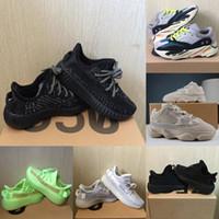 correr corredores venda por atacado-Sapatos bebê crianças corredor da onda 700 Running Shoes argila V2 estática reflexivos 500 Kanye West Beluga 2,0 Sneakers Boy menina da criança instrutor