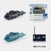mini submarinos de control remoto al por mayor-RC Submarino Inalámbrico 40 MHz Control Remoto Mini Submarino Regalo de Cumpleaños Para Niños Kid Popular Moda de Alta Tecnología 51dj D1