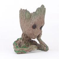 fada dos homens venda por atacado-Groot vaso de flores figura de ação árvore homens figuras de fadas jardim caneta recipiente coleção filme famoso novo 8 5yx d1