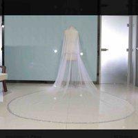 bling véus de noiva venda por atacado-Duas Camadas de Bling Bling Cristal Véu De Noiva Duas Camadas 2019 Com Pente Formal Do Casamento Das Senhoras Acessórios Para o Cabelo Rosto Véu