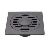duschboden abflussdeckel großhandel-Schwarzes Badablaufdeckel Durable Shower Drain Cap mit Deckel für Bodenwäsche Küche Badezimmer