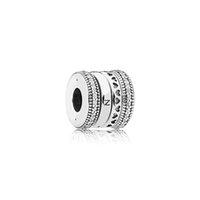 charmes de coeur achat en gros de-Authentique Perles Européennes En Argent Sterling 925 Charms Boîte d'origine pour Pandora Coeur Bracelet Cristal breloques fabrication d'accessoires
