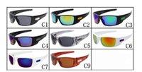 lunettes de soleil multicolores achat en gros de-10 PCS D'ÉTÉ CYCLISME Nouveau CHAUD Hommes Marque Sports de plein air Lunettes De Soleil Designer De Mode Classique Dazzle couleur LUNETTES Lunettes