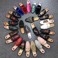 mujeres grandes látex al por mayor-Baotou zapatillas para hombres y mujeres 2019 piel de vaca suave playa al aire libre Zapatillas perezosas Diseñador Marca de lujo Zapatillas de gran tamaño US1011 al por mayor