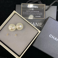 Wholesale mothers day pins resale online - Luxurious quality brand name round beads decorate of stud earring women earring in S925 silver pin classic beach PS6829A
