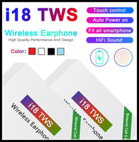 bluetooth для авто оптовых-i18 TWS Touch5.0 беспроводного Bluetooth наушники поддержки поп окна стерео наушники наушники Auto Power On Auto кожуры Прикосновения Использования