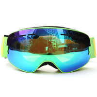 Wholesale anti uv mask resale online - Children Skiing Snowboarding Skating Goggles UV Protection Anti fog Wide Spherical PC Lens Anti slip Snowmobile Skating mask