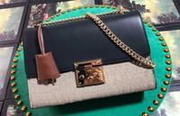Wholesale soft key covers resale online - Women A cm Padlock Medium Shoulder Bag Key Leather Holder Lock Closure with Dust Bag DHL