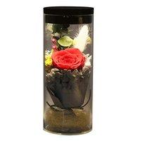 розовые цветочные розы оптовых-FALIY LED красочные преобразования света светящиеся свежие розы вечные цветы для любви, чтобы сохранить розы, подарки на день рождения, День Святого Валентина, юбилей