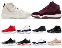 altın balo ayakkabı boyutu toptan satış-En iyi indirim 11 11s Prom gece GAMMA MAVİ GÜL ALTIN SOĞUK GRİ uyum Platin Ton kadın erkek basketbol ayakkabıları spor ayakkabı boyutu 7-13
