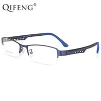 Wholesale korean spectacles frame resale online - QIFENG Spectacle Frame Eyeglasses Men Korean Computer Optical Myopia Eye Glasses Frame For Male Transparent Clear Lens QF297