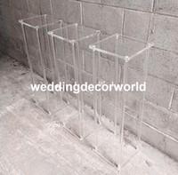 vasos de cristal alto venda por atacado-Clássico alto vaso de casamento sisle acrílico passagem de cristal passarela decor615