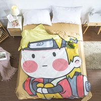 Wholesale naruto cartoon styles for sale – custom Cartoon Uzumaki Naruto Summer Cool blanket air conditioning comforter children Adult Anime Cool Naruto Alien blanket