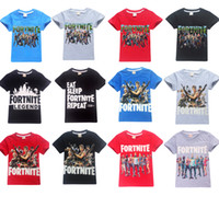 Wholesale teens summer clothes online - 2019 Newest Big Boys Fortnite T Shirt For Teen Kids Tee Clothes Fornite Battle Royale Baby Print Drop Shipping Children Tshirt