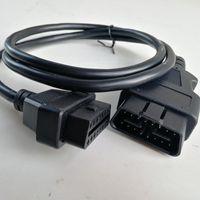 esquivar pin al por mayor-La mejor opción Cable OBD2 interfaz de cable de diagnóstico de extensión del OBD II OBD2 de 16 pines Conector 16pin a 16pin