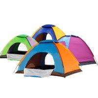 fiberglas tücher großhandel-Outdoor Casual Zelte Shelter 2 Türen Bivy Sacks Picknick Strand Camping Angeln Zelte Bottom Oxford Tuch Top Qualität Fiberglas Sicher