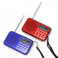altavoz digital micro al por mayor-1 PC Mini LCD Digital Audio FM Radio Altavoz USB Micro SD TF Tarjeta Reproductor de música MP3