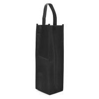 bolsas de regalo de vino de tela al por mayor-1 Unid Tela No tejida Botellas de Vino Tinto Bolsas de Regalo Bodas Fiesta de Navidad Lavable Botellas de Vino Cubierta Negro