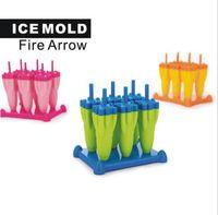 popsicle trays groihandel-Rocket Gefrorenes Eis Am Stiel Ice Pop Formen Eiswürfelschale Sommerprodukte Eis am Stiel Schimmel Ice Cream Tools KKA6864